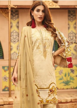 Salitex Embroidered Lawn Unstitched 3 Piece Suit ST19SF 293A - Festive Collection