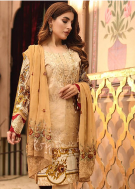 Salitex Embroidered Lawn Unstitched 3 Piece Suit ST19SF 293B - Festive Collection