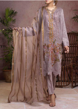 Salitex Embroidered Broschia Unstitched 3 Piece Suit ST19B 363 - Luxury Collection