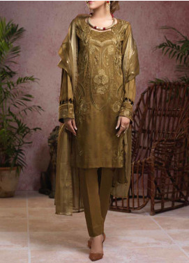 Salitex Embroidered Broschia Unstitched 3 Piece Suit ST19B 364 - Luxury Collection