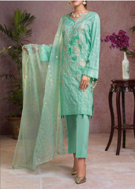Salitex Embroidered Broschia Unstitched 3 Piece Suit ST19B 365 - Luxury Collection
