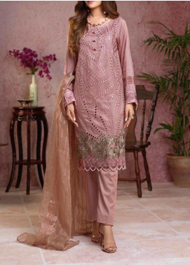 Salitex Embroidered Broschia Unstitched 3 Piece Suit ST19B 366 - Luxury Collection