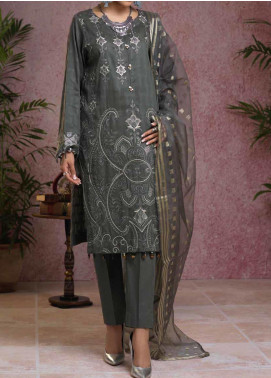 Salitex Embroidered Broschia Unstitched 3 Piece Suit ST19B 367 - Luxury Collection
