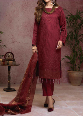 Salitex Embroidered Broschia Unstitched 3 Piece Suit ST19B 368 - Luxury Collection