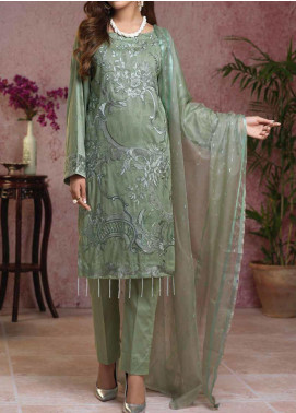 Salitex Embroidered Broschia Unstitched 3 Piece Suit ST19B 369 - Luxury Collection