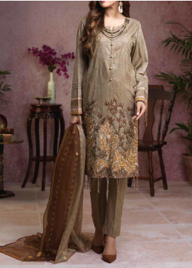 Salitex Embroidered Broschia Unstitched 3 Piece Suit ST19B 370 - Luxury Collection