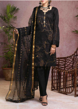 Salitex Embroidered Broschia Unstitched 3 Piece Suit ST19B 371 - Luxury Collection