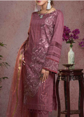 Salitex Embroidered Broschia Unstitched 3 Piece Suit ST19B 372 - Luxury Collection