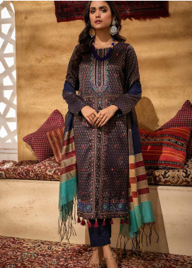 Signature Series by Salitex Embroidered Jacquard Unstitched 3 Piece Suit ST21SS 00633 - Winter Collection