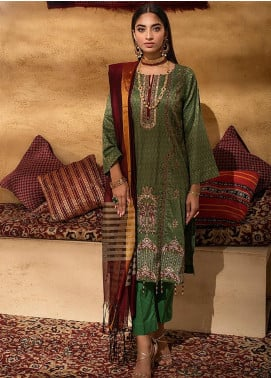 Signature Series by Salitex Embroidered Jacquard Unstitched 3 Piece Suit ST21SS 00640 - Winter Collection