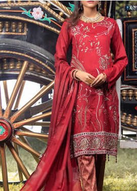 Salitex Embroidered Jacquard Unstitched 3 Piece Suit ST19-S4 387 - Luxury Collection