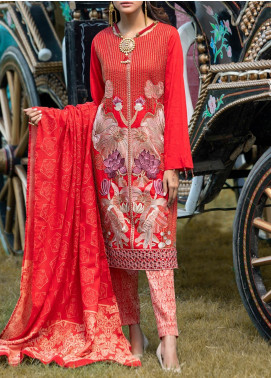 Salitex Embroidered Jacquard Unstitched 3 Piece Suit ST19-S4 390 - Luxury Collection
