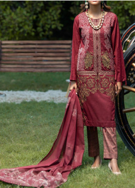 Salitex Embroidered Jacquard Unstitched 3 Piece Suit ST19-S4 393 - Luxury Collection