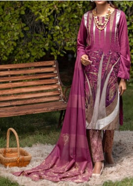 Salitex Embroidered Jacquard Unstitched 3 Piece Suit ST19-S4 395 - Luxury Collection