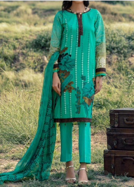 Salitex Embroidered Cambric Unstitched 3 Piece Suit STS20C 179B - Winter Collection