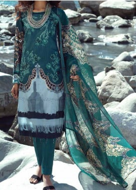 Silkoria Ribs by Salitex Embroidered Cambric Unstitched 3 Piece Suit ST20SR 00189A - Winter Collection