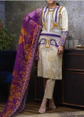 Salitex Embroidered Cambric Unstitched 3 Piece Suit STS19-1 170B - Summer Collection
