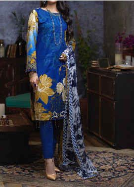 Salitex Embroidered Cambric Unstitched 3 Piece Suit STS19-1 171A - Summer Collection