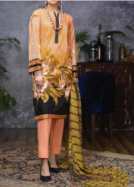 Salitex Embroidered Cambric Unstitched 3 Piece Suit STS19-1 174B - Summer Collection