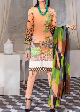 Salitex Embroidered Lawn Unstitched 3 Piece Suit ST20SS 181 A - Summer Collection