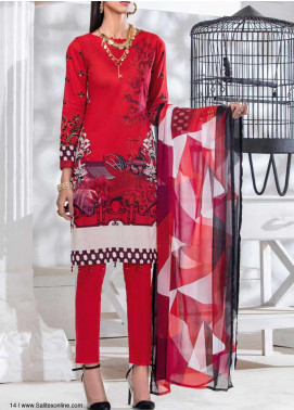 Salitex Embroidered Lawn Unstitched 3 Piece Suit ST20SS 181 B - Summer Collection