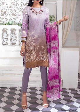 Salitex Embroidered Lawn Unstitched 3 Piece Suit ST20SS 183 A - Summer Collection