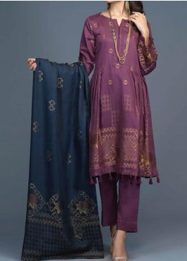 Salitex Jacquard Viscose Unstitched 3 Piece Suit ST20VJ 00206 - Winter Collection