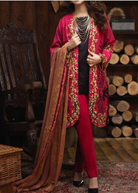 Salitex Embroidered Cambric Unstitched 3 Piece Suit ST19ZC 342 A - Winter Collection