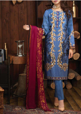 Salitex Embroidered Cambric Unstitched 3 Piece Suit ST19ZC 342 B - Winter Collection