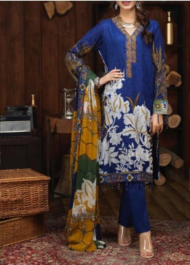 Salitex Embroidered Cambric Unstitched 3 Piece Suit ST19ZC 343 B - Winter Collection