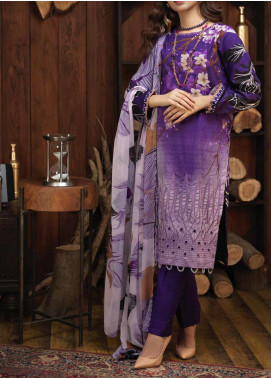 Salitex Embroidered Cambric Unstitched 3 Piece Suit ST19ZC 344 A - Winter Collection