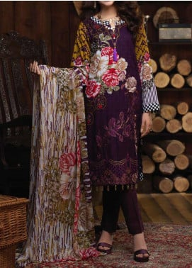 Salitex Embroidered Cambric Unstitched 3 Piece Suit ST19ZC 345 A - Winter Collection