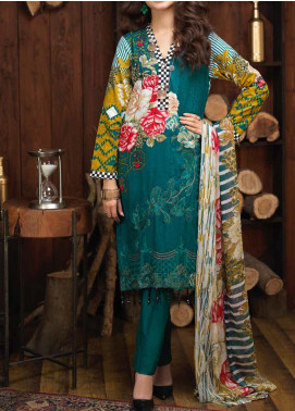 Salitex Embroidered Cambric Unstitched 3 Piece Suit ST19ZC 345 B - Winter Collection