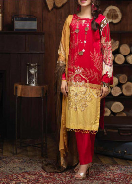 Salitex Embroidered Cambric Unstitched 3 Piece Suit ST19ZC 346 A - Winter Collection