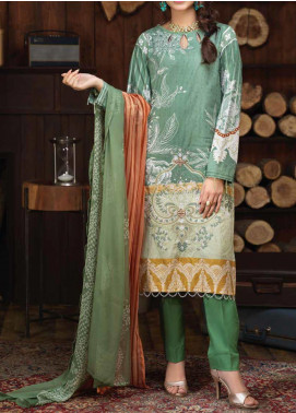 Salitex Embroidered Cambric Unstitched 3 Piece Suit ST19ZC 346 B - Winter Collection