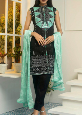 Samia by AB Textiles Printed Cotton Unstitched 3 Piece Suit AB20S 03 SEA VERT - Winter Collection