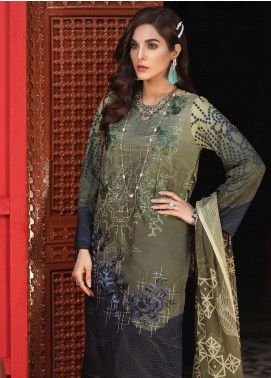 Silkoria by Sana & Sara Embroidered Lawn Unstitched 3 Piece Suit SLK19L 155B - Spring / Summer Collection