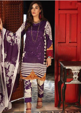 Silkoria by Sana & Sara Embroidered Lawn Unstitched 3 Piece Suit SLK19L 156B - Spring / Summer Collection