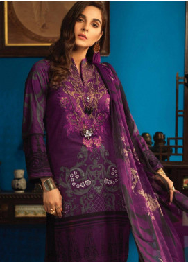 Silkoria by Sana & Sara Embroidered Lawn Unstitched 3 Piece Suit SLK19L 157A - Spring / Summer Collection