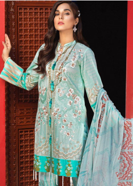 Silkoria by Sana & Sara Embroidered Lawn Unstitched 3 Piece Suit SLK19L 159A - Spring / Summer Collection