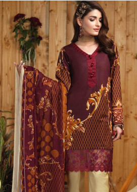 Sana & Sara Embroidered Lawn Unstitched 3 Piece Suit SLK19-L4 162B - Mid Summer Collection