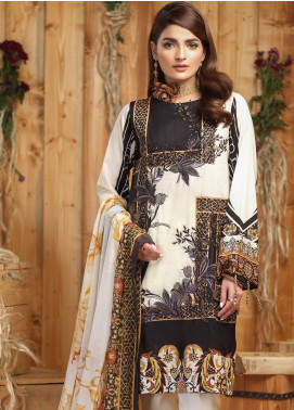 Sana & Sara Embroidered Lawn Unstitched 3 Piece Suit SLK19-L4 163B - Mid Summer Collection