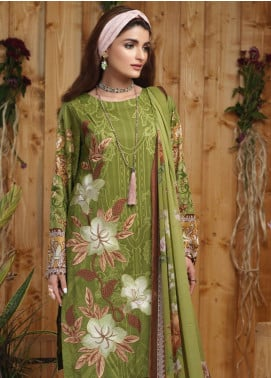 Sana & Sara Embroidered Lawn Unstitched 3 Piece Suit SLK19-L4 164A - Mid Summer Collection