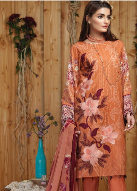 Sana & Sara Embroidered Lawn Unstitched 3 Piece Suit SLK19-L4 164B - Mid Summer Collection