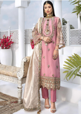 Aadaab by Sana Sheraz Embroidered Organza Unstitched 3 Piece Suit SS20F-3 - Festive Collection