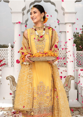 Aadaab by Sana Sheraz Embroidered Chiffon Unstitched 3 Piece Suit SS20F-4 - Festive Collection
