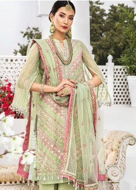 Aadaab by Sana Sheraz Embroidered Organza Unstitched 3 Piece Suit SS20F-6 - Festive Collection