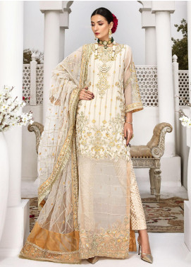 Aadaab by Sana Sheraz Embroidered Organza Unstitched 3 Piece Suit SS20F-7 - Festive Collection