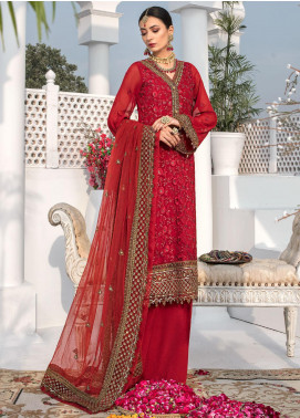 Aadaab by Sana Sheraz Embroidered Chiffon Unstitched 3 Piece Suit SS20F-8 - Festive Collection