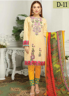 Sanam Saeed by Puri Fabrics Embroidered Lawn Unstitched 3 Piece Suit PF20EL 11 - Summer Collection